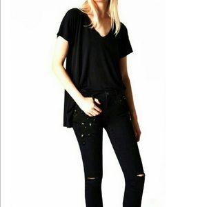 BLANK NYC Black Star Studded Skinny Jeans